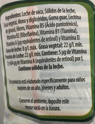 Nutri Leche - Ingrédients - es
