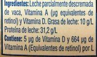 Borden Leche Light - Ingredients - es