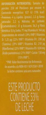 Leche Lala frutas sabor mango - Informations nutritionnelles - es