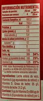 Leche entera Borden - Nutrition facts - es