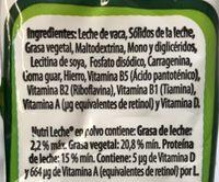 Leche en polvo - Ingrédients - es