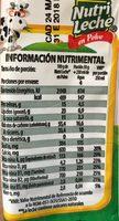 Leche en polvo - Voedingswaarden - es