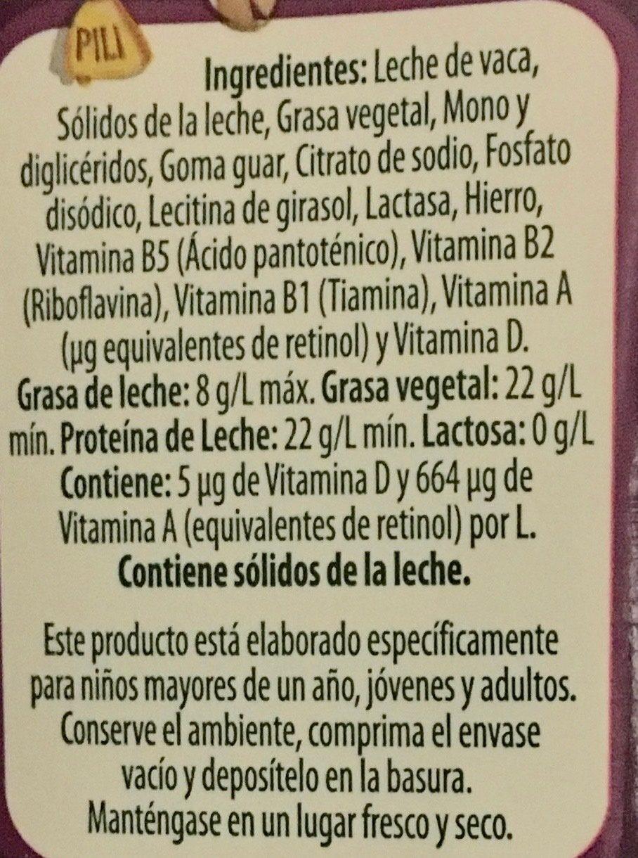 Nutri deslactosada - Ingredientes - es