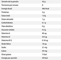Chiquitín 8 pack - Nutrition facts - es