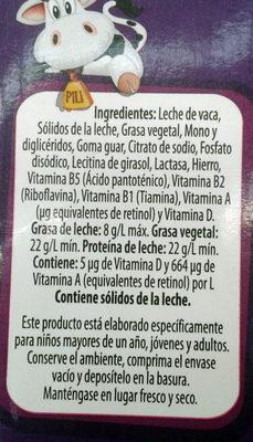 Nutri leche deslactosada - Ingrediënten - es