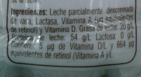 Lala 100 sin lactosa - Ingrédients - es