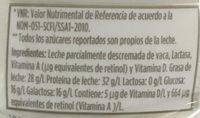 Leche LALA 100 sin lactosa - Ingrédients