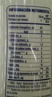 Leche LALA 100 sin lactosa - Informations nutritionnelles