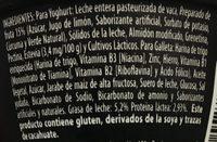 Yogur Delicias Pay de Limón Lala - Ingrediënten - es