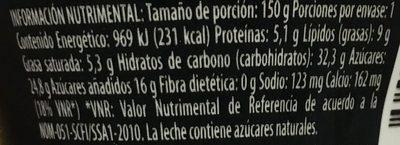 Yogur Delicias Pay de Limón Lala - Voedingswaarden - es