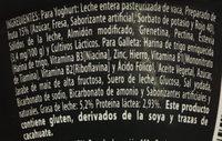 Yogur Delicias Pay de Fresa Lala - Ingrediënten - es