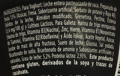 Yogur Delicias Pay de Fresa Lala - Ingrediënten