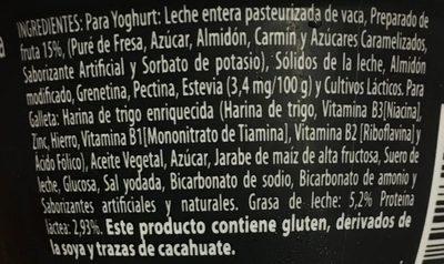 Yogur Delicias Red Velvet Lala - Ingrediënten - es