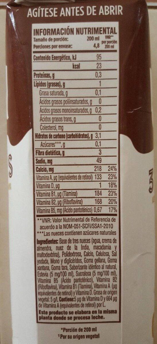 Lala vita - Informació nutricional