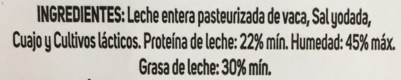 Chambourcy Edam Rebanadas de Queso - Ingrediënten - es