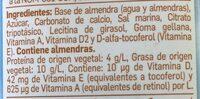 Almond breeze - Ingredientes - es