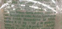 Limonada Mineralizada - Ingrédients