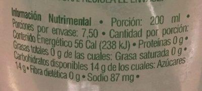 Limonada Mineralizada - Informations nutritionnelles