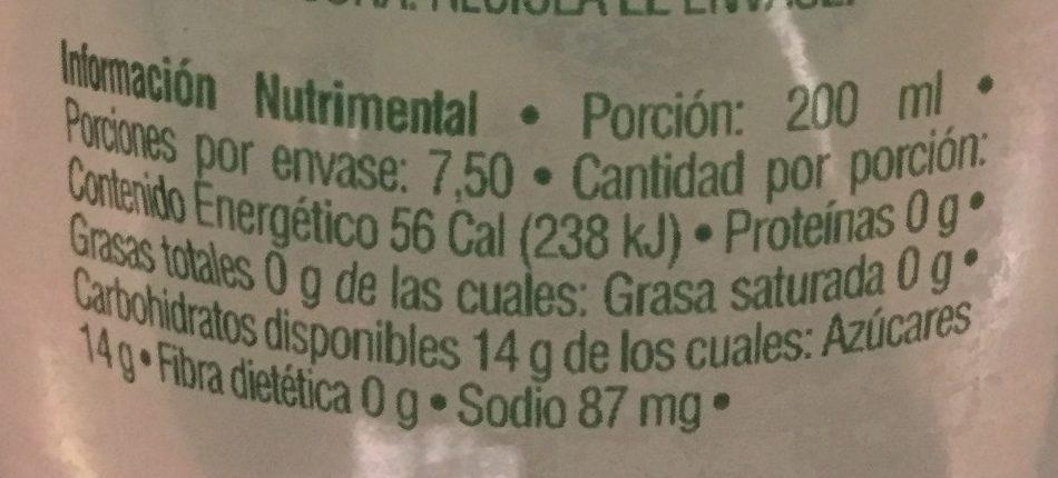 Limonada Mineralizada - Informations nutritionnelles - es