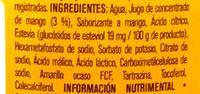 Agua con jugo de mango - Ingredients - es