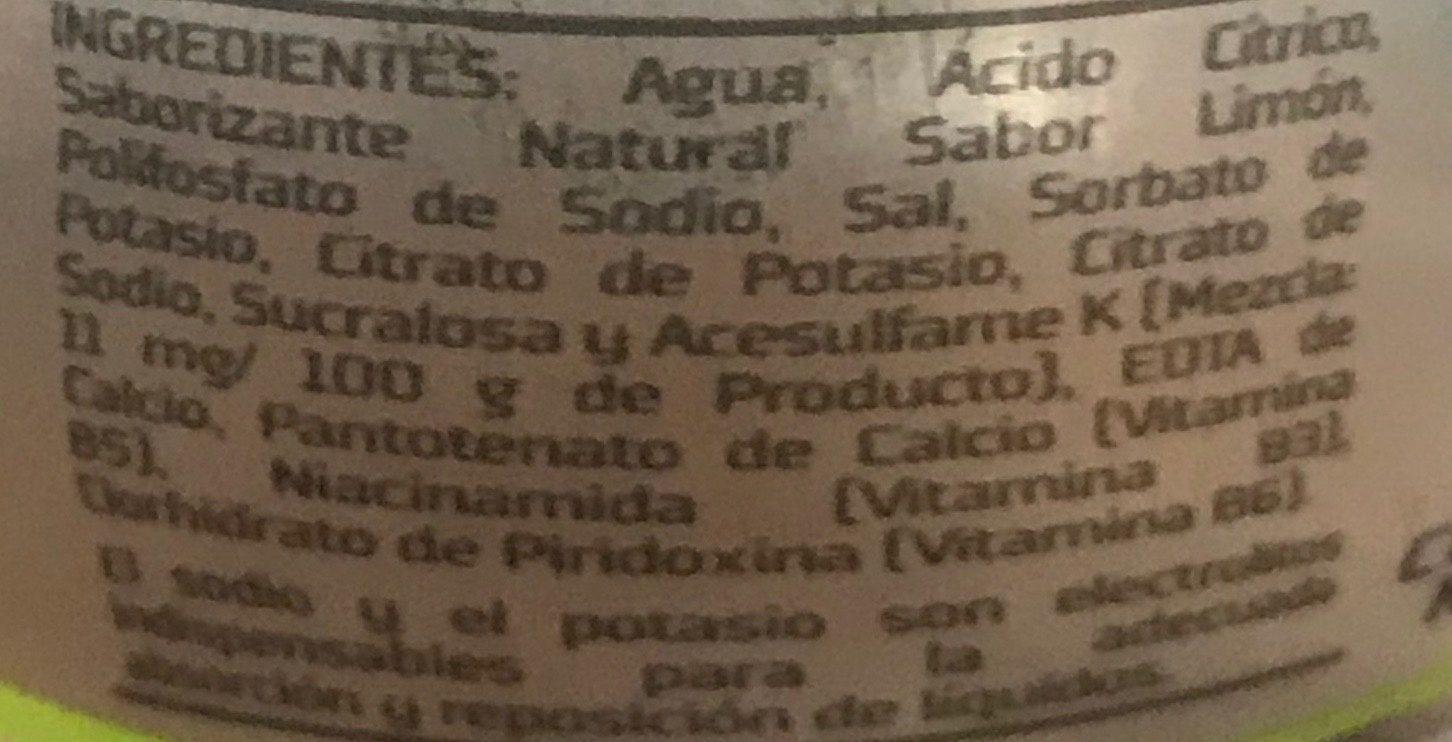 Active Water sabor limón - Ingrédients