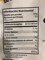 Chilorio de Pollo - Información nutricional - es