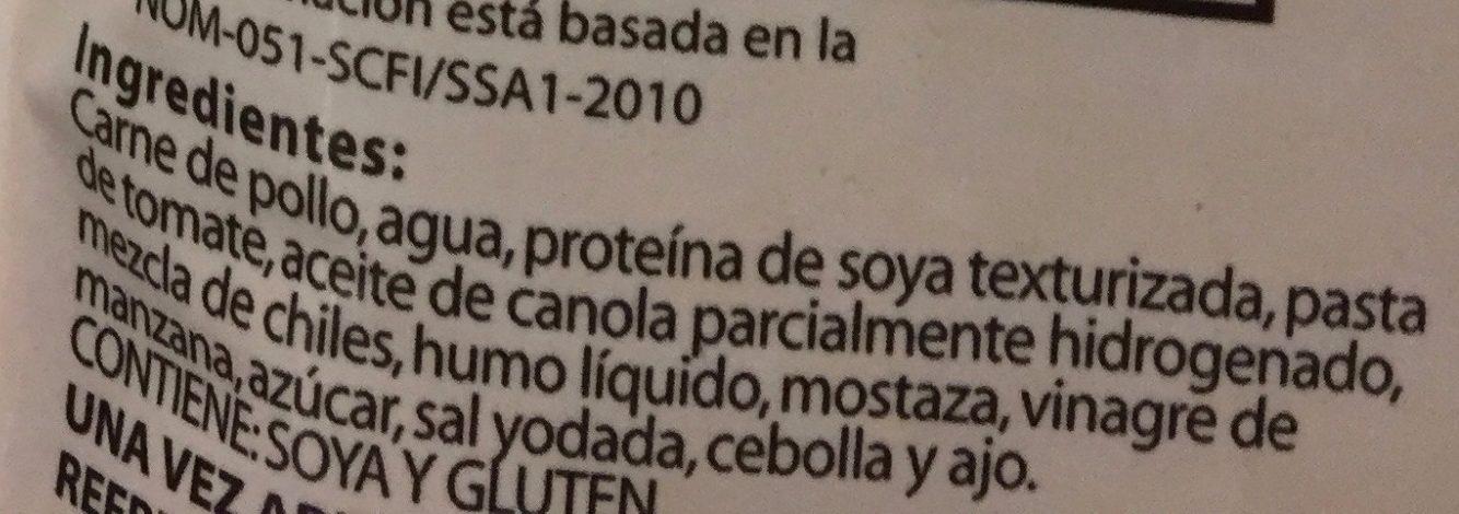 POLLO BBQ - Ingredientes - es