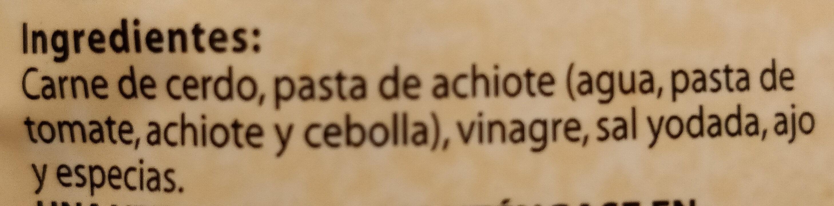 Chata, cochinita pibil shredded pork meat - Ingredients - en