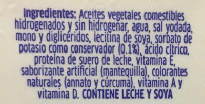 Margarina con sal Primavera - Ingrediënten - es