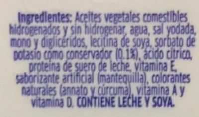 Margarina con sal Primavera - Ingredients - es