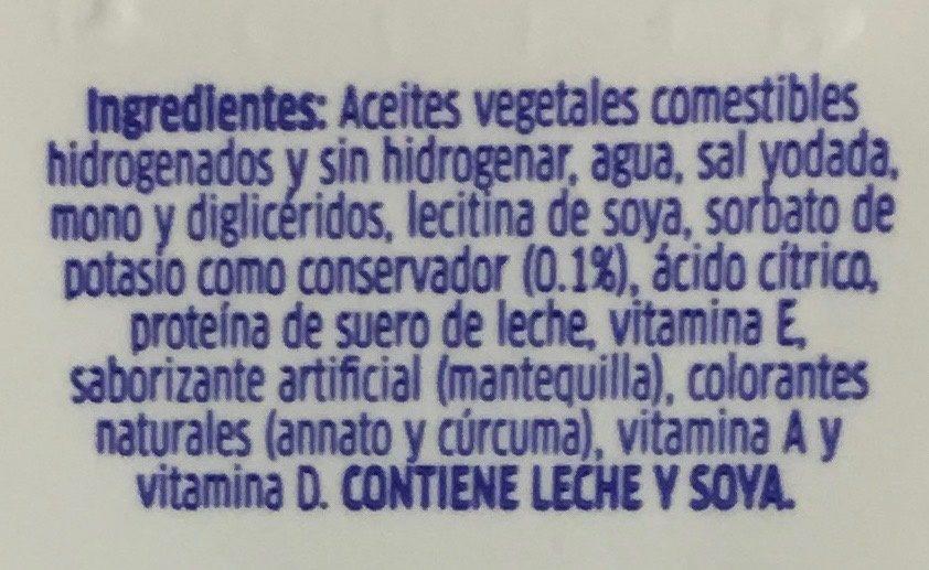 Margarina sin sal Primavera - Ingrediënten