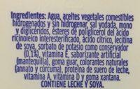 MANTEQUILLA LIGHT - Ingrediënten - es