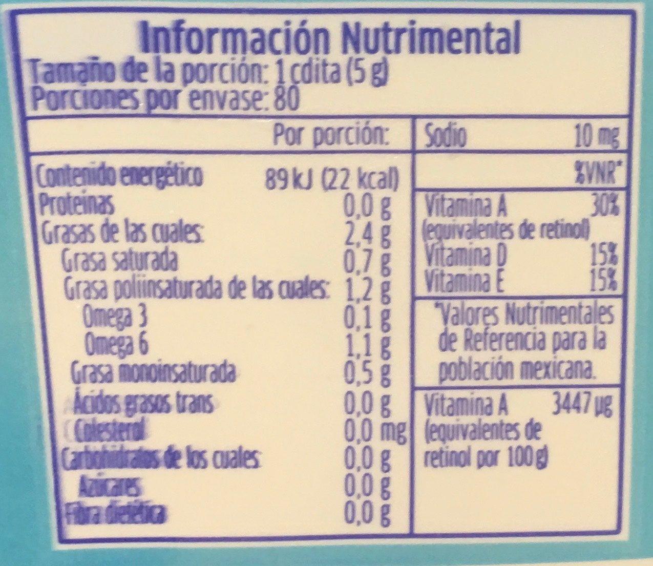MANTEQUILLA LIGHT - Voedingswaarden - es