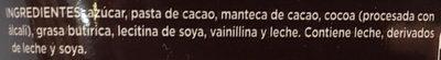 Chocolate amargo - Ingrédients - es