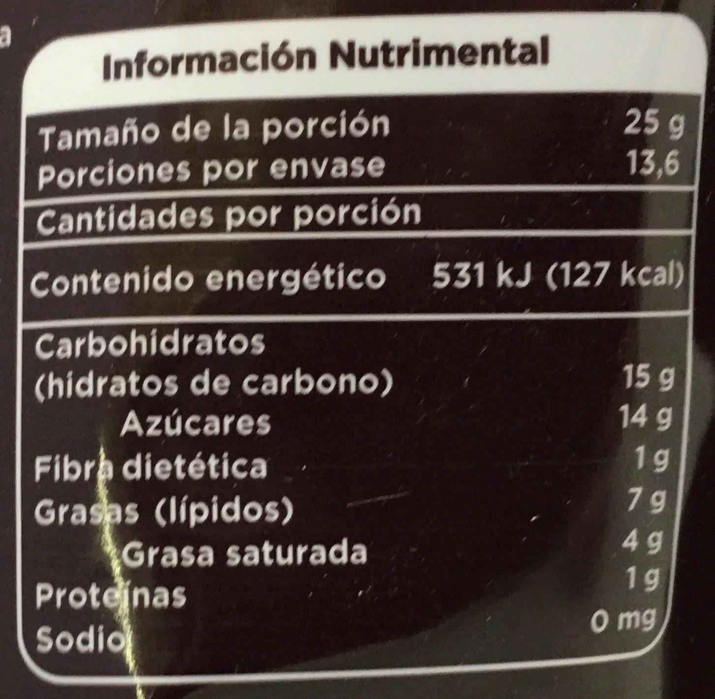 Chocolate semiamargo - Informations nutritionnelles - es