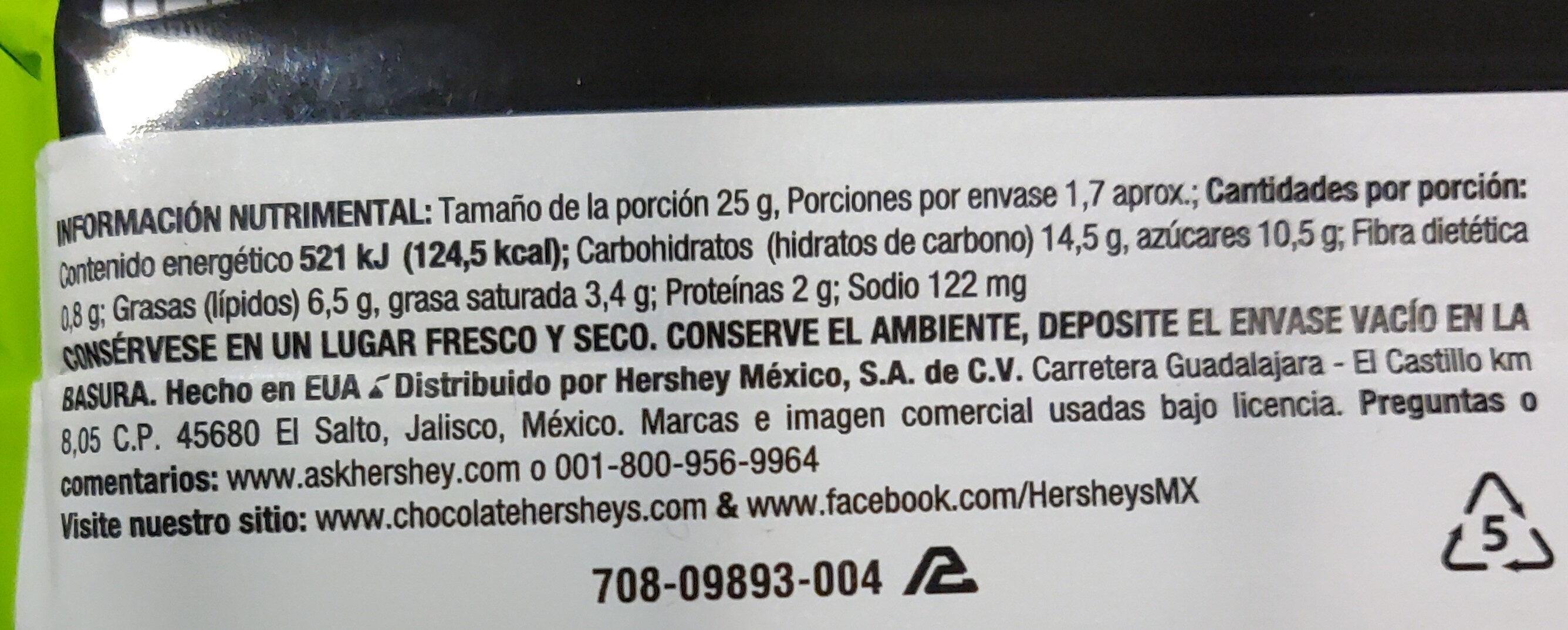 Hershey's Take 5 - Nährwertangaben - es