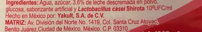 Yakult 5 pack - Ingredienti - es