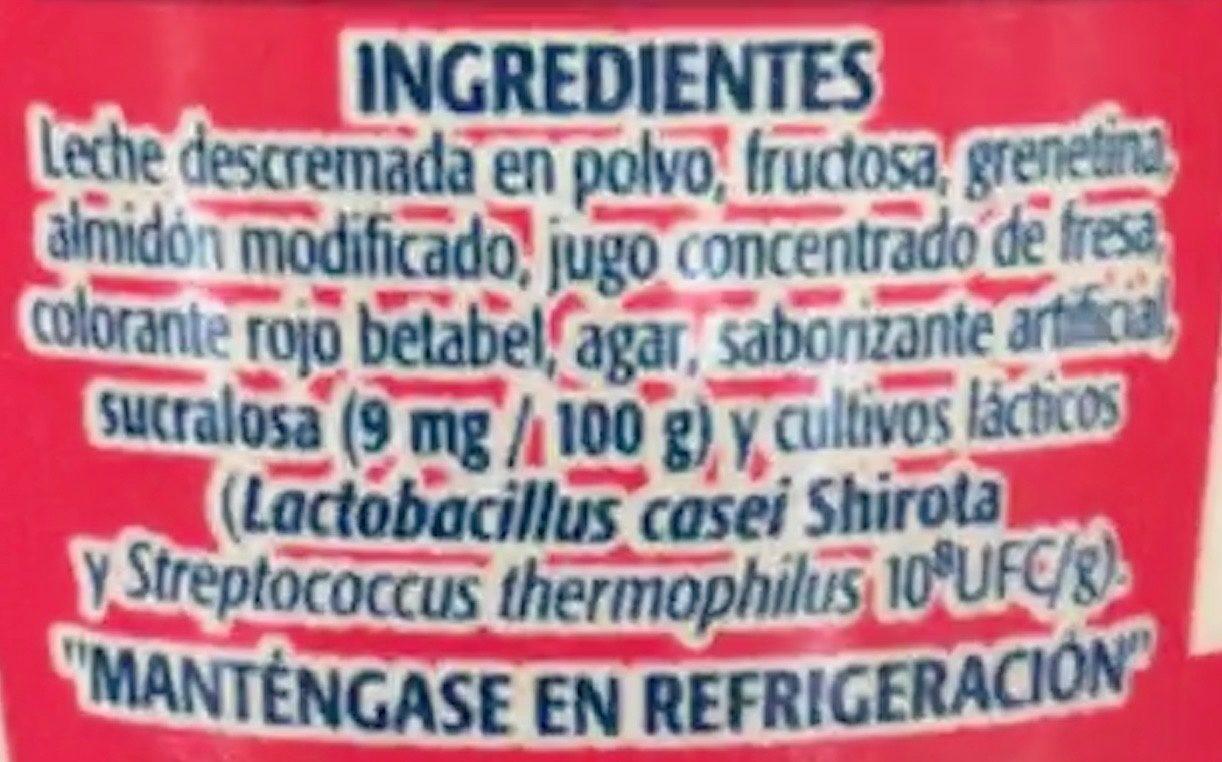 Soful sabor Fresa - Ingredients - es
