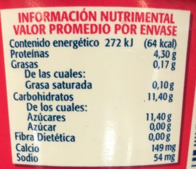 Soful sabor Fresa - Nutrition facts - es