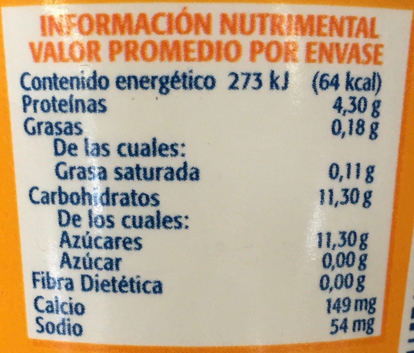 Sofúl Sabor Mango - Nutrition facts - es