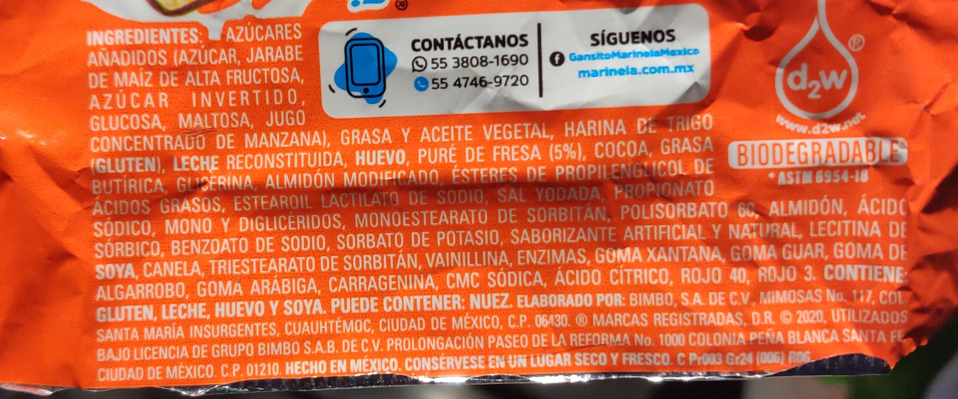 Mini Gansito - Ingredients - es