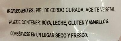 Chicharrón - Ingredients - es