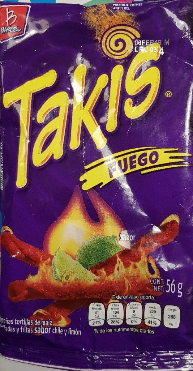 Takis Fuego 56GR. - Produit - fr