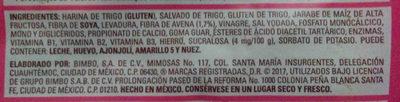 Bimbo Silueta - Ingredients