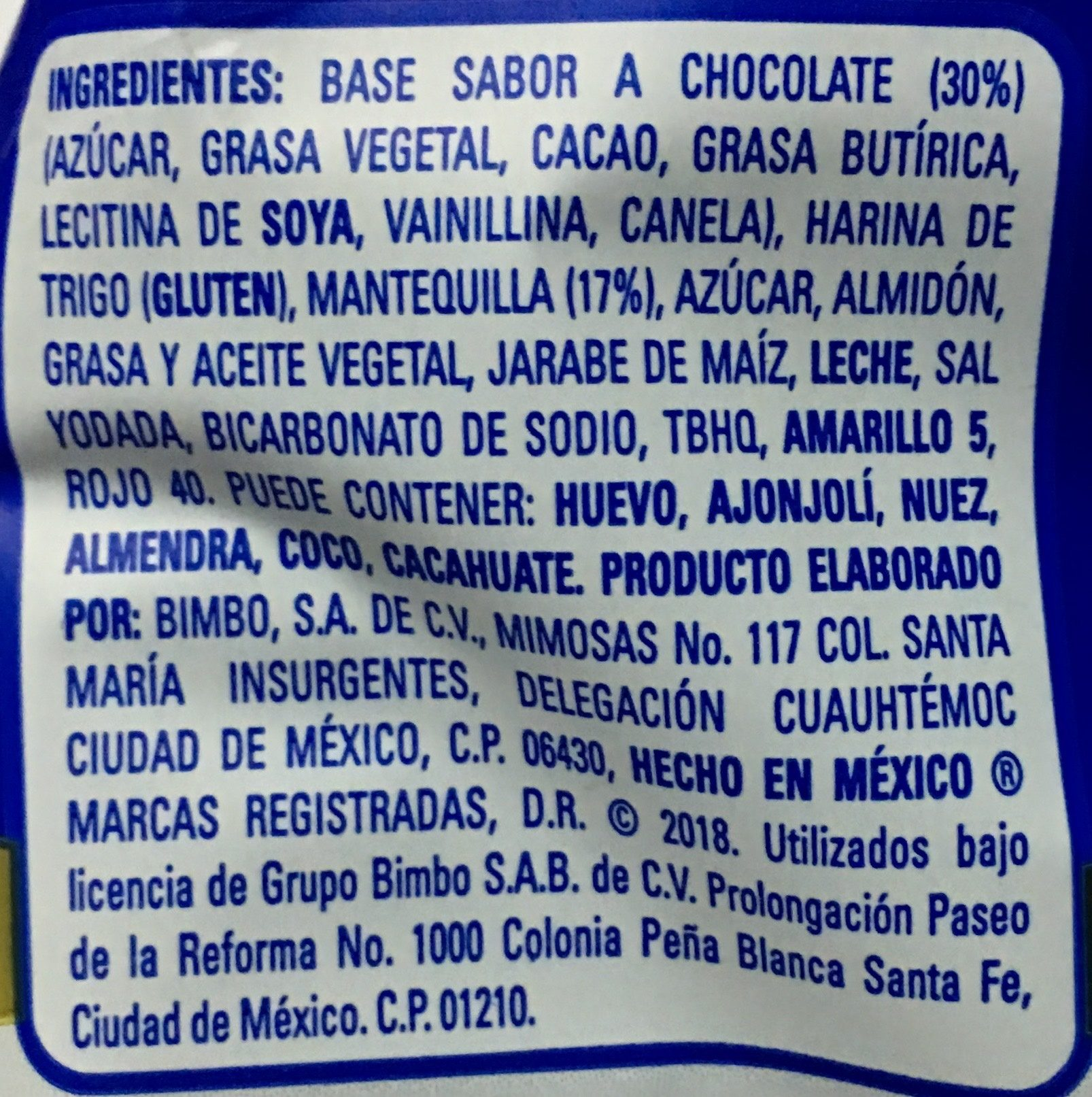 Pastisetas Suandy - Ingrediënten - es