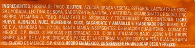 Polvorones Marinela - Ingrediënten - es