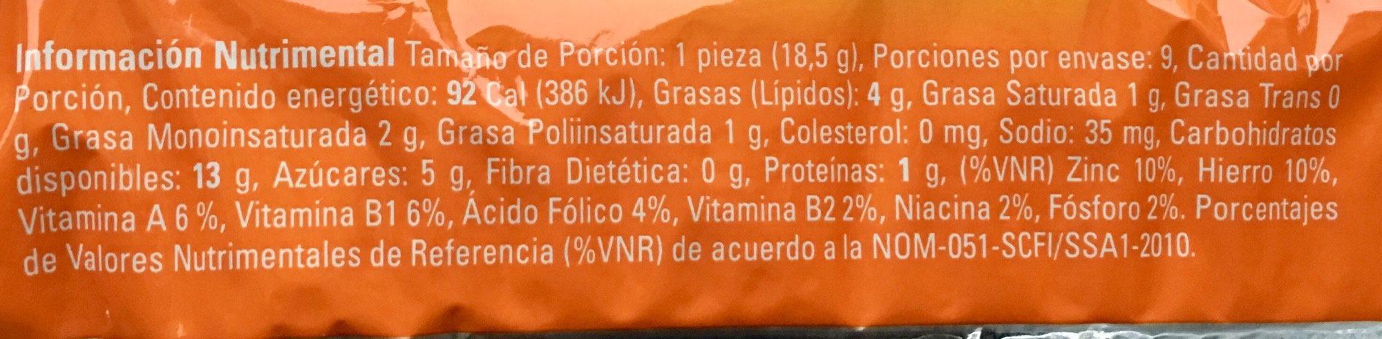 Polvorones Marinela - Voedingswaarden - es