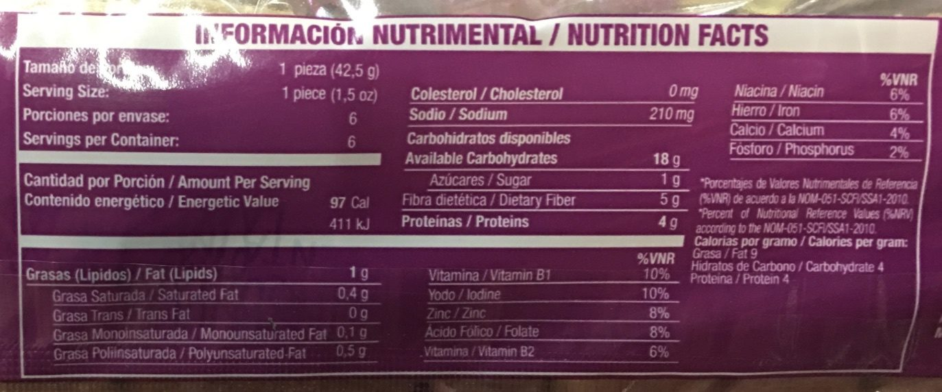 THINS MULTIGRANO - Informations nutritionnelles - es