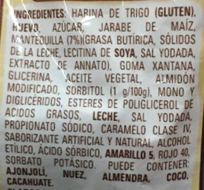 PANQUÉ CASERO Y MANTEQUILLA TÍA ROSA - Ingrédients - es