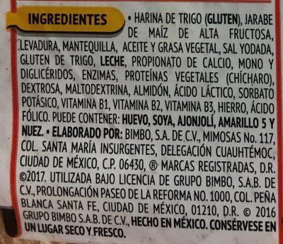 Bollos Golden - Ingrédients - es